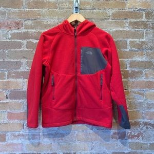 Boys Sz L North Face Zip Up Hoodie